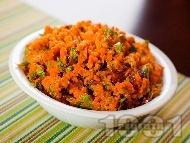 Пюре от моркови и червен лук (гарнитура за пържоли и риба)